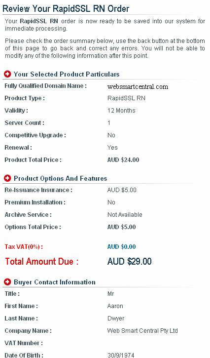 Buy or Renew SSL Step 11